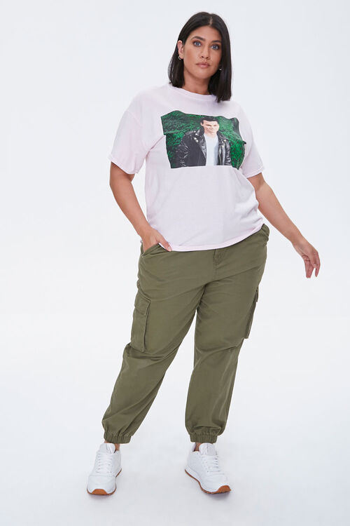 PINK/MULTI Plus Size Cry-Baby Graphic Tee, image 4