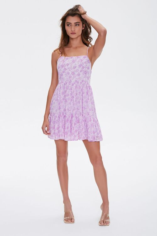 Floral Print Mini Cami Dress, image 4