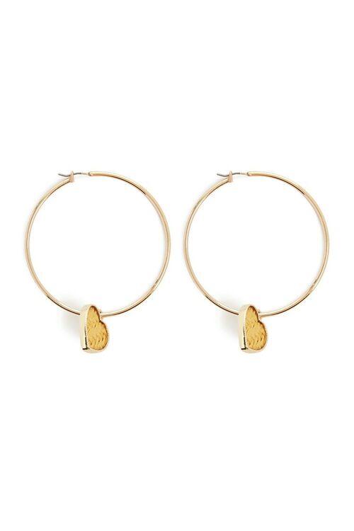 Heart Hoop Earrings, image 1