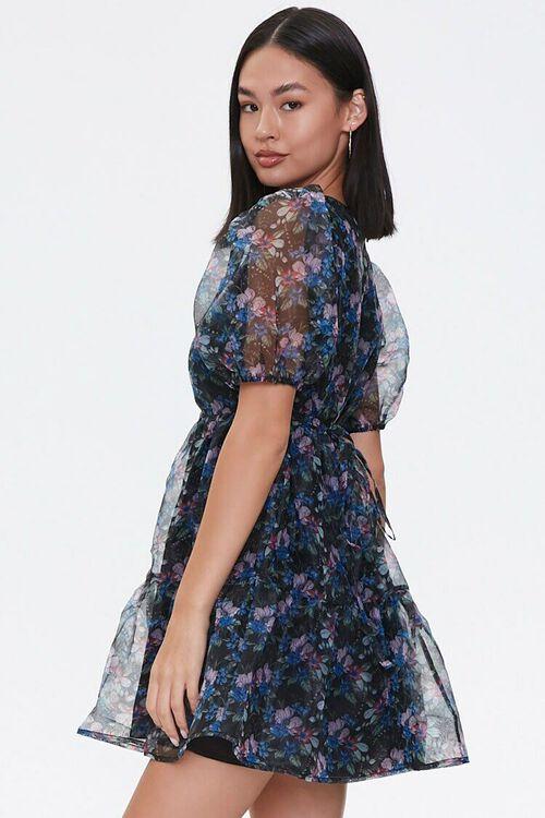 BLACK/PINK Floral Organza Dress, image 2