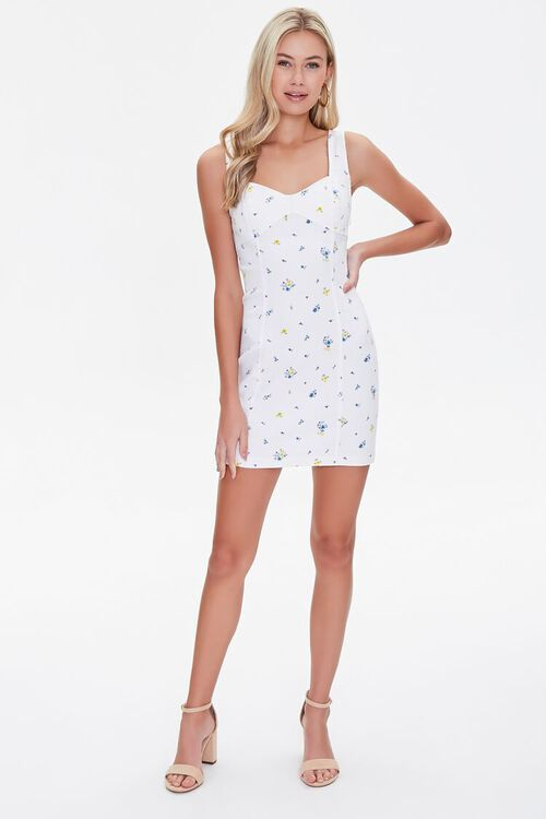 Ditsy Floral Print Cutout Dress, image 4