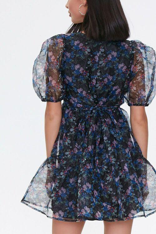 BLACK/PINK Floral Organza Dress, image 3