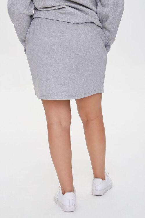 Plus Size French Terry Mini Skirt, image 4