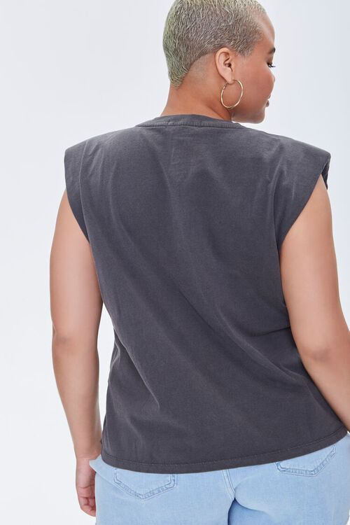 Plus Size Mujer Sagrada Graphic Muscle Tee, image 3