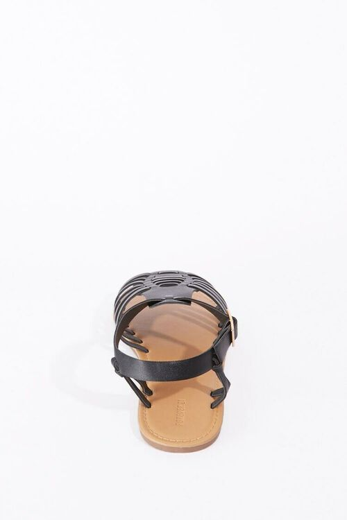 Strappy Faux Leather Sandals, image 2