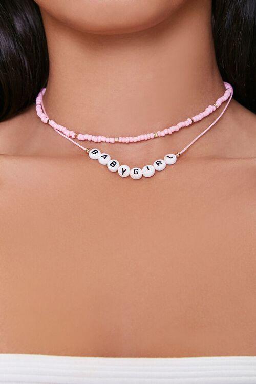 Babygirl Beaded Layered Necklace, image 1