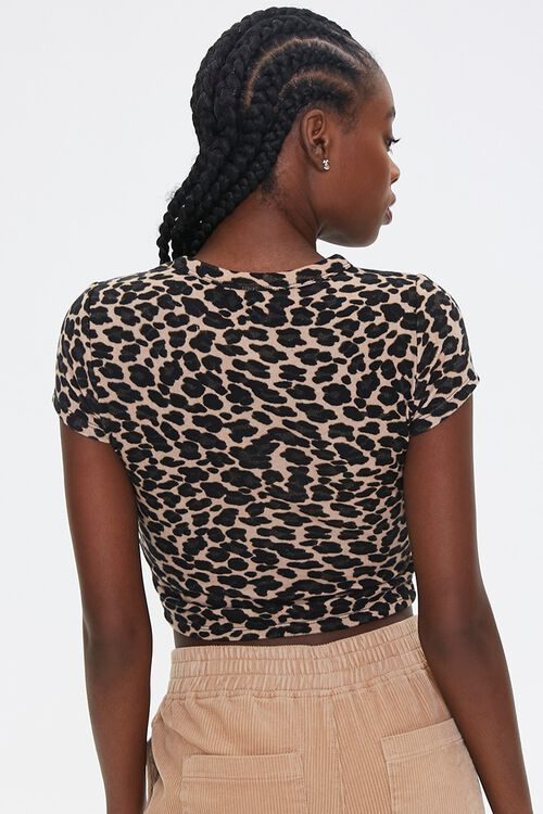 Leopard Print Cropped Tee, image 3