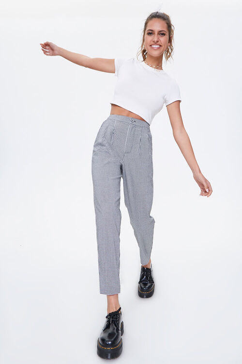 Gingham Cropped Pants, image 1