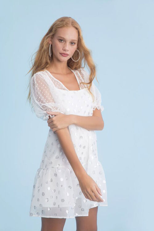 Chiffon Polka Dot Dress, image 1
