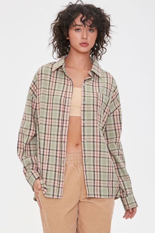 Plaid Chest-Pocket Shirt, image 1
