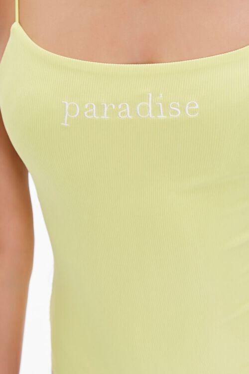 Paradise Graphic Cami Bodysuit, image 6