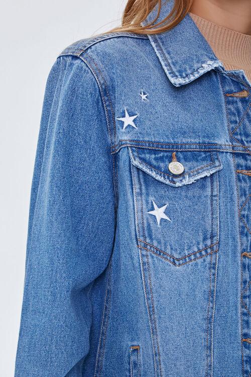 Embroidered Star Denim Jacket, image 5