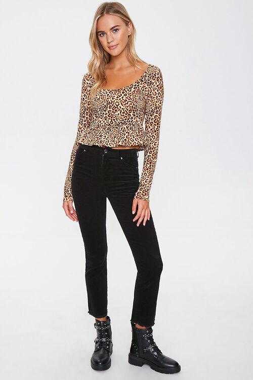 Leopard Print Ruffle-Trim Top, image 4