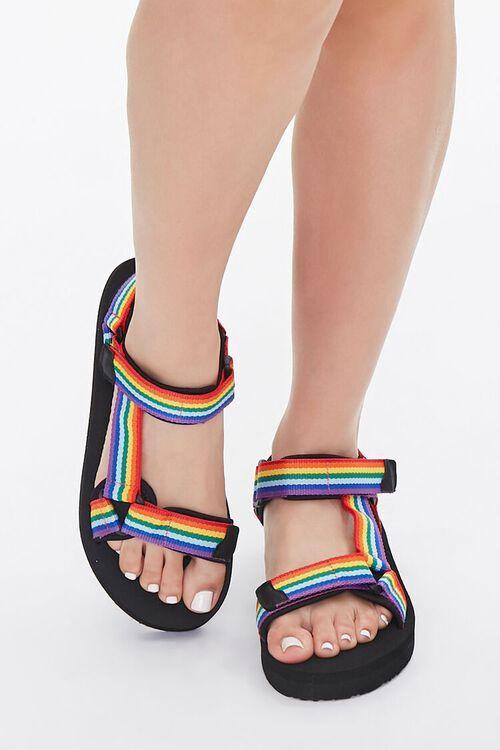 Rainbow-Striped Platform Sandals, image 4