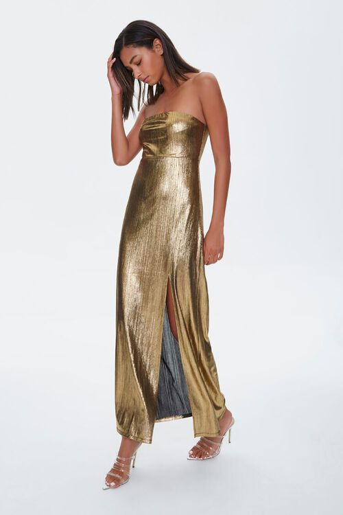 Metallic Maxi Dress, image 1