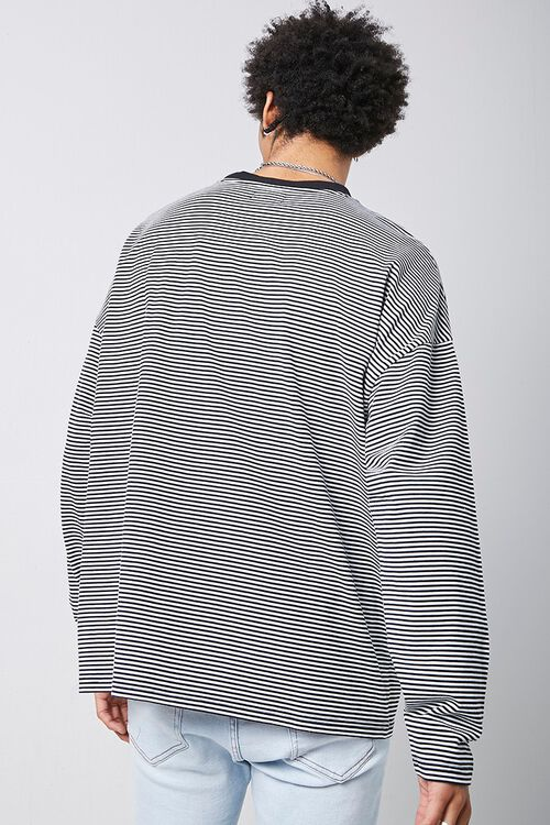 Rose Embroidered Graphic Striped Tee, image 3