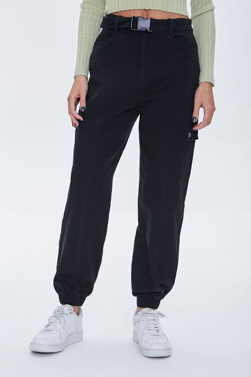 Belted Cargo Joggers, image 2