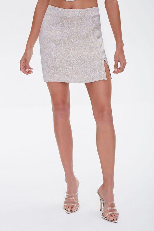 Snakeskin Print Mini Skirt, image 2