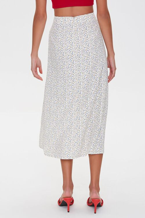 WHITE/MULTI Floral Midi Skirt, image 3