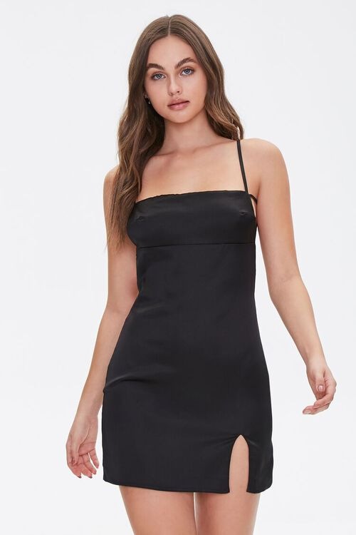 Satin Open-Back Dress, image 2