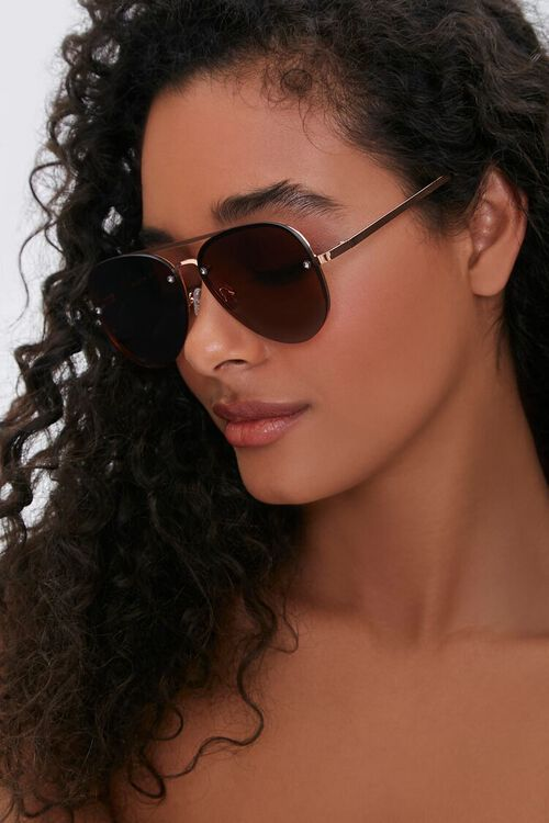 Metal Aviator Sunglasses, image 1