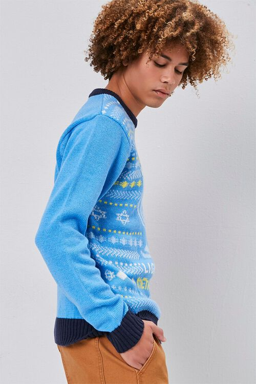 Menorah Intarsia Knit Sweater, image 2