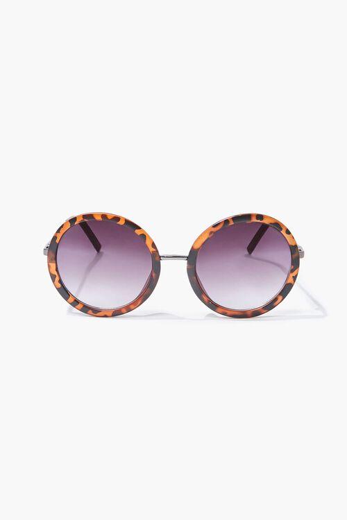 Tortoiseshell Round Sunglasses, image 2