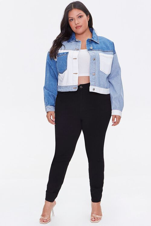 Plus Size Reworked Denim Jacket, image 4