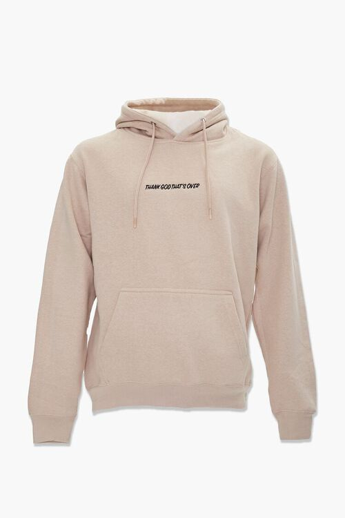 Thank God Embroidered Graphic Hoodie, image 1