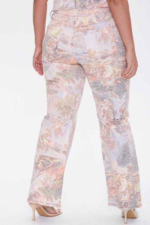 Plus Size Renaissance Art Print Ankle Jeans, image 4