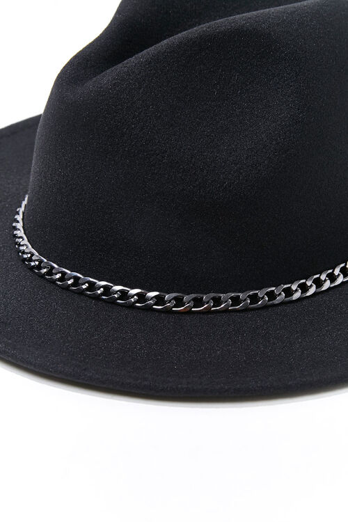 Curb Chain Felt Fedora, image 4