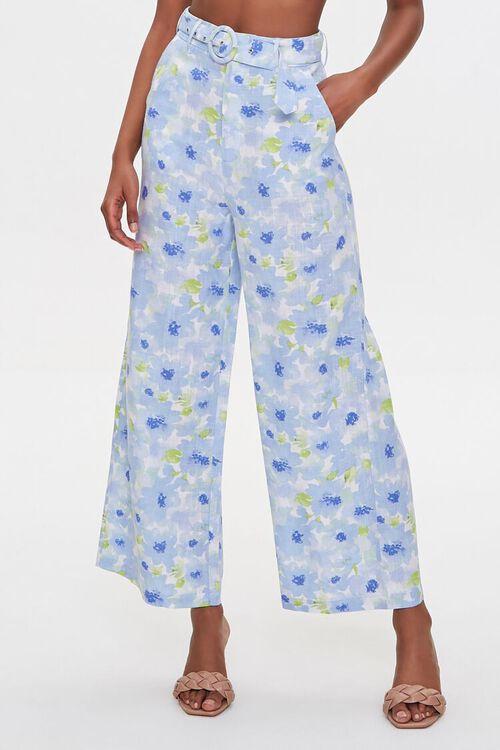 BLUE/MULTI Floral Cropped Cami & Pants Set, image 4