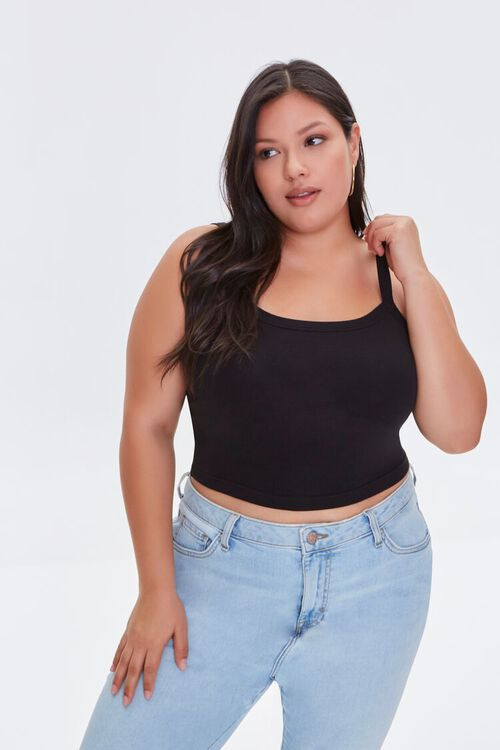 Plus Size Cropped Cami, image 1