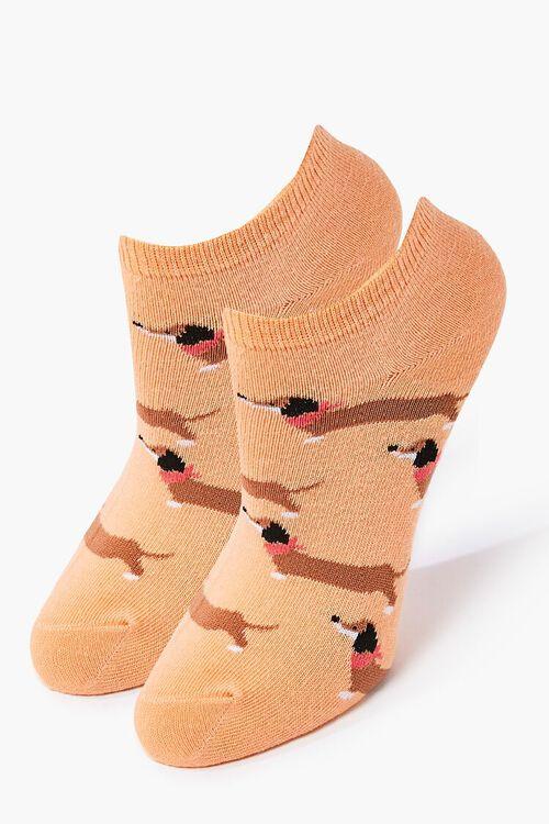 Dachshund Print Ankle Socks, image 1