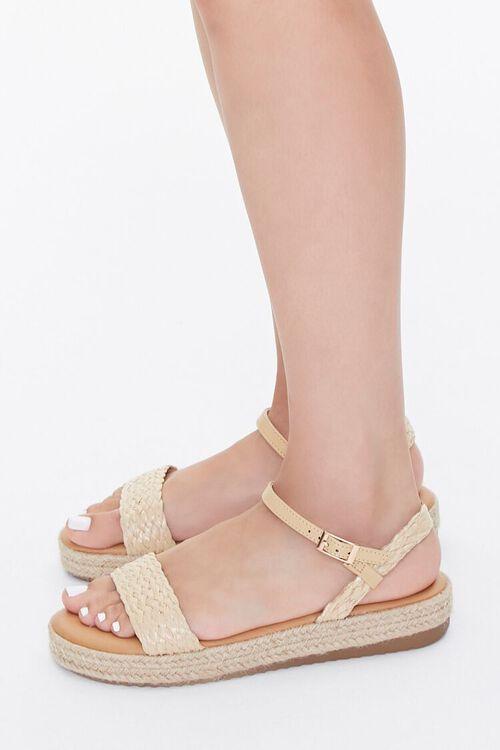 Braided-Strap Espadrille Flatform Sandals, image 2
