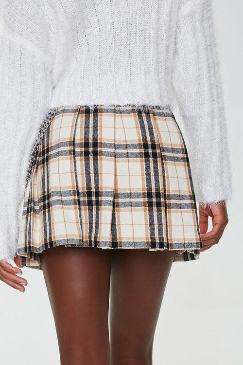 Pleated Plaid Mini Skirt, image 3
