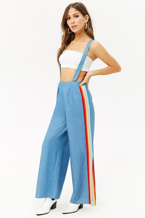 Chambray Suspender Pants, image 1
