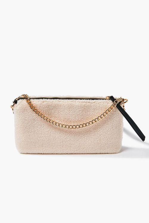 Faux Shearling Chain Shoulder Bag, image 1