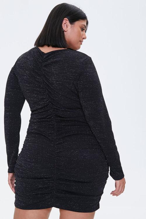 Plus Size Ruched Mini Dress, image 3