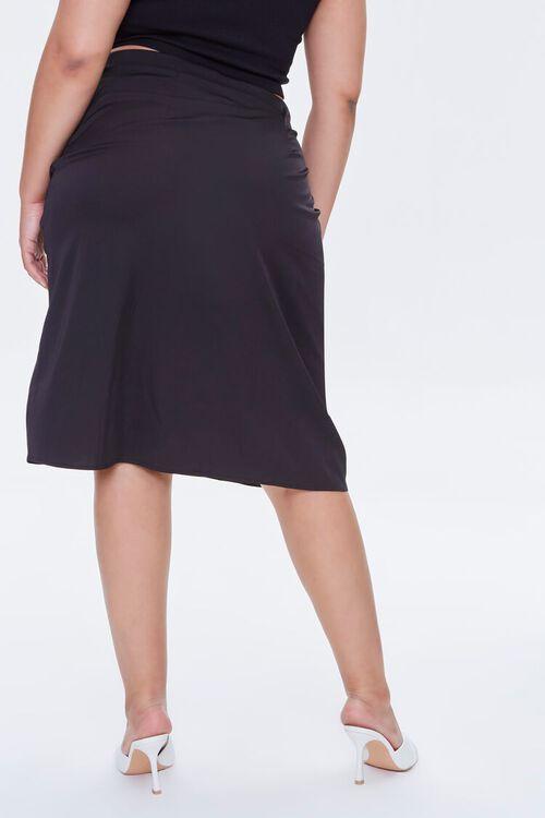 Plus Size Ruched Drawstring Skirt, image 4
