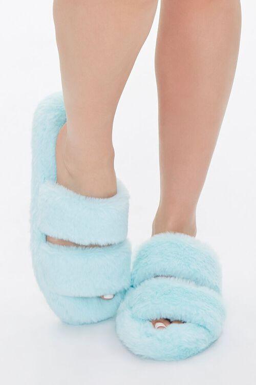 Plush Faux Fur Slippers, image 4