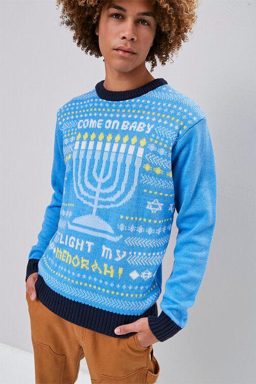 Menorah Intarsia Knit Sweater, image 1