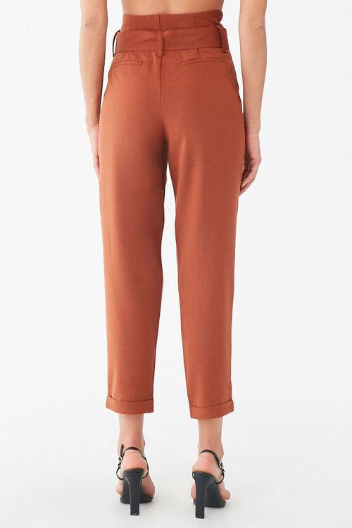 RUST D-Ring Belt Cuffed Trousers, image 3