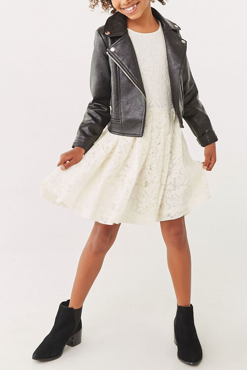 Girls Lace Fit & Flare Dress (Kids), image 4