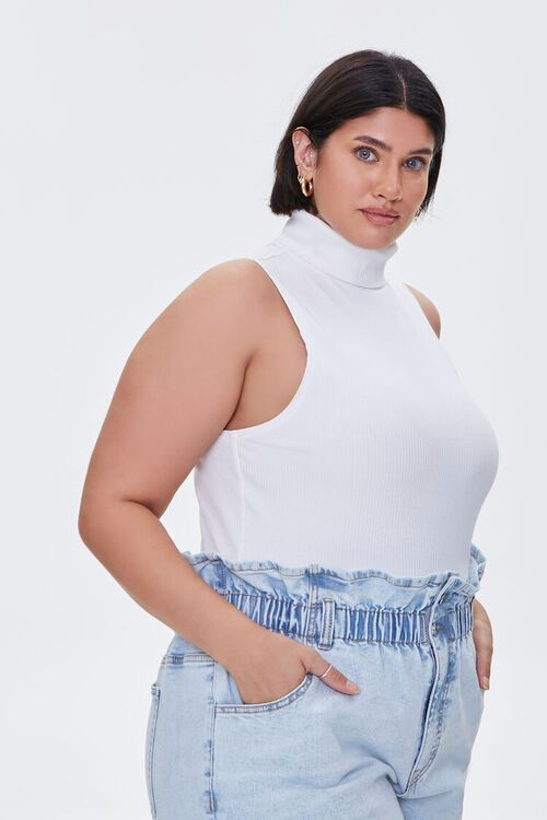 Plus Size Ribbed Turtleneck Top, image 1
