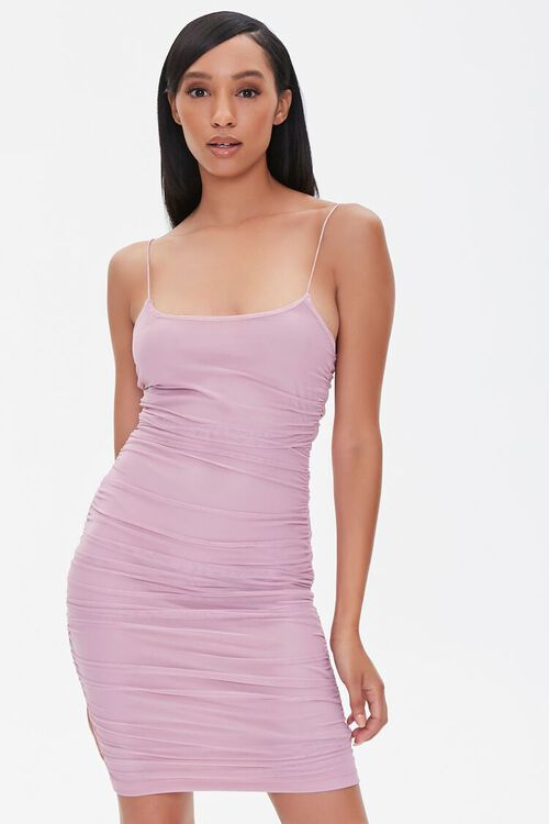 Ruched Bodycon Mini Dress, image 1