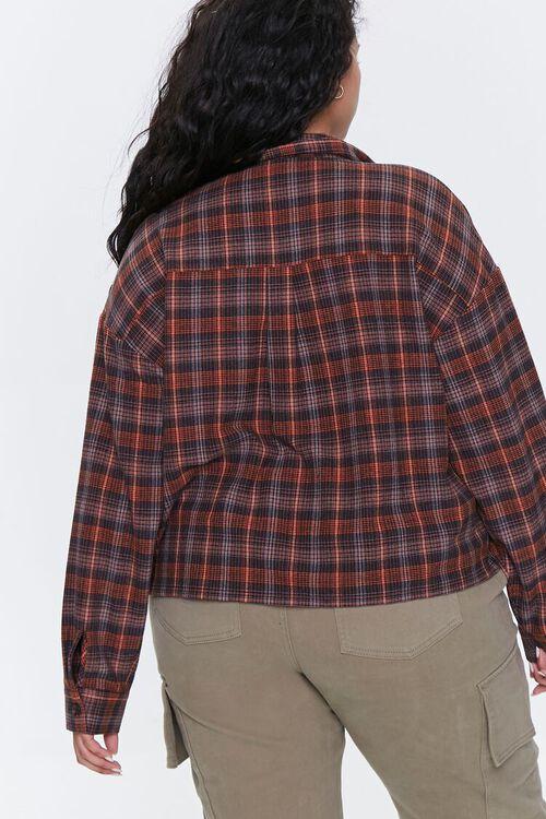 Plus Size Plaid Button-Up Shirt, image 3