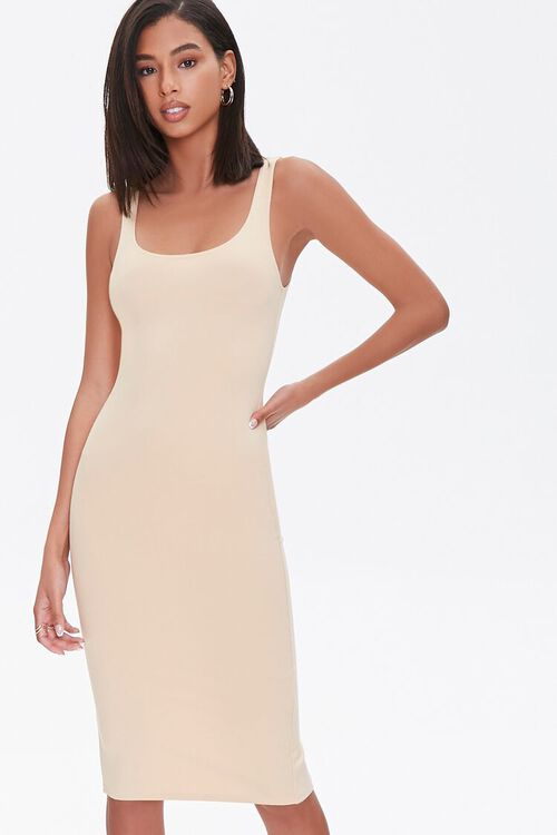 TAUPE Scoop Bodycon Dress, image 1