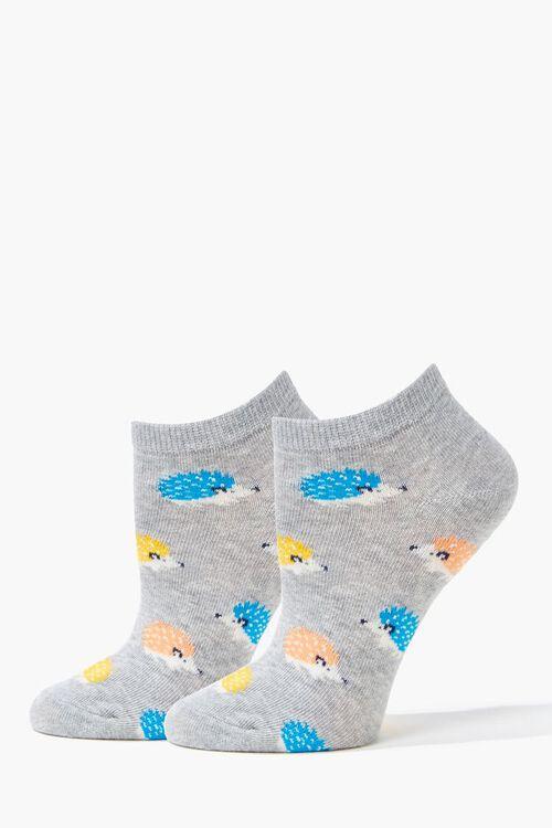 Hedgehog Graphic Ankle Socks, image 1
