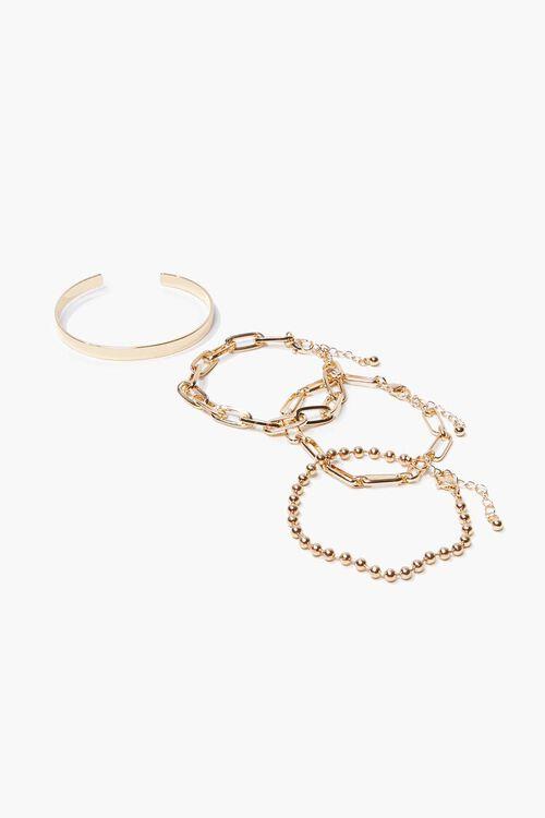 Bangle & Chain Bracelet Set, image 1